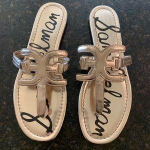 Sam Edelman Cara Thong Sandals Sz 8.5 Gold